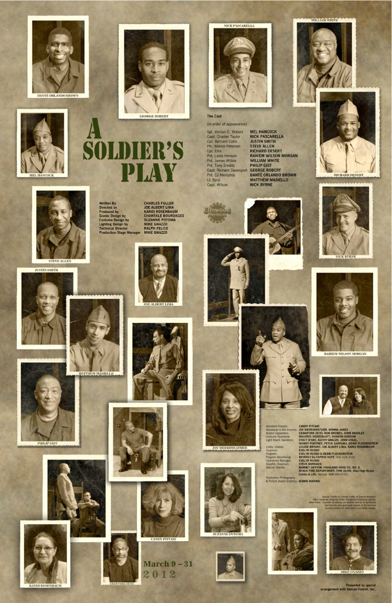 George Robert is Captain Davenport in A Soldier's Play