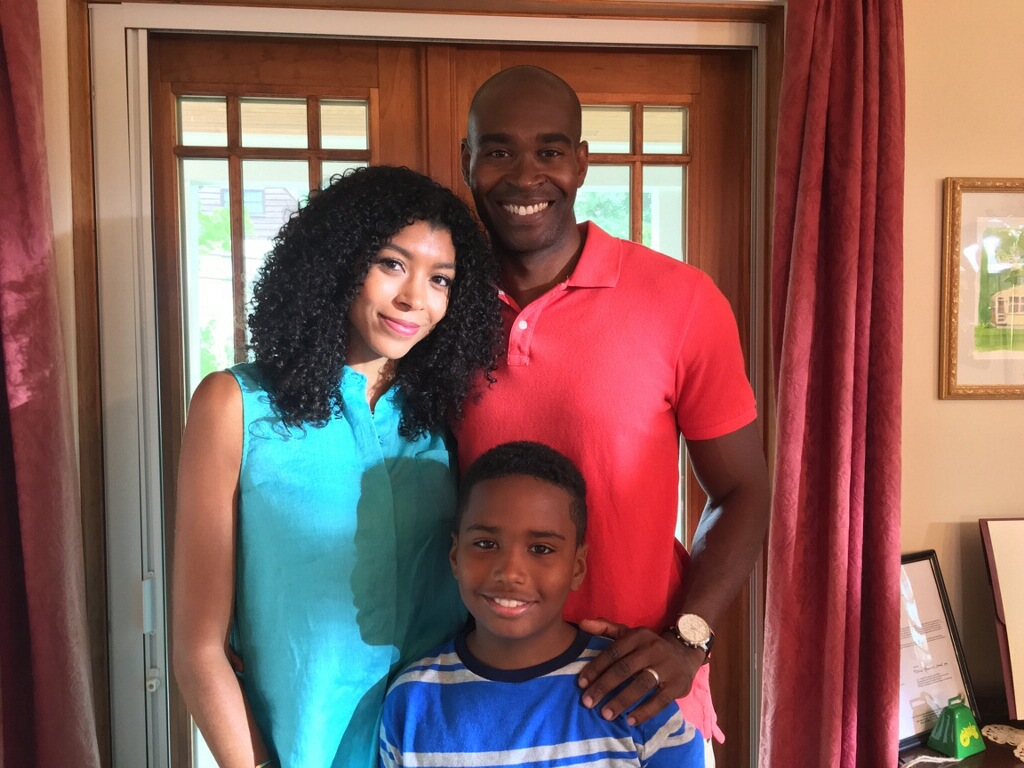 Noelle, George and Tyler on set of TV Land's Nationwide Insurance promo.